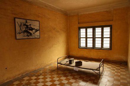 Une des chambres de torture de la prison S-21
