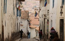 The paved streets of Cusco