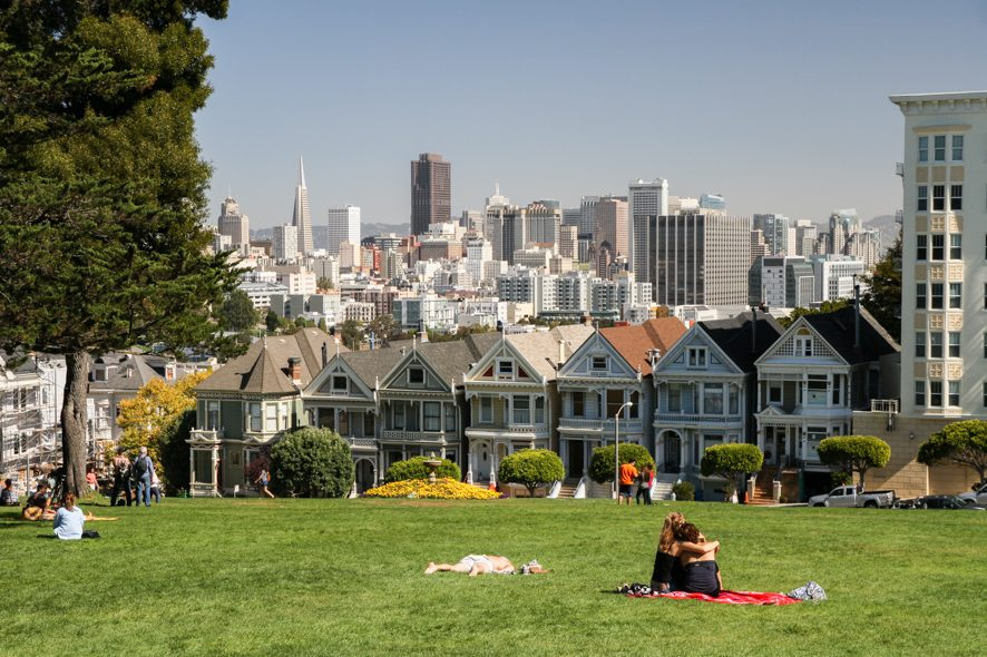 Belle vue des painted ladies de san francisco