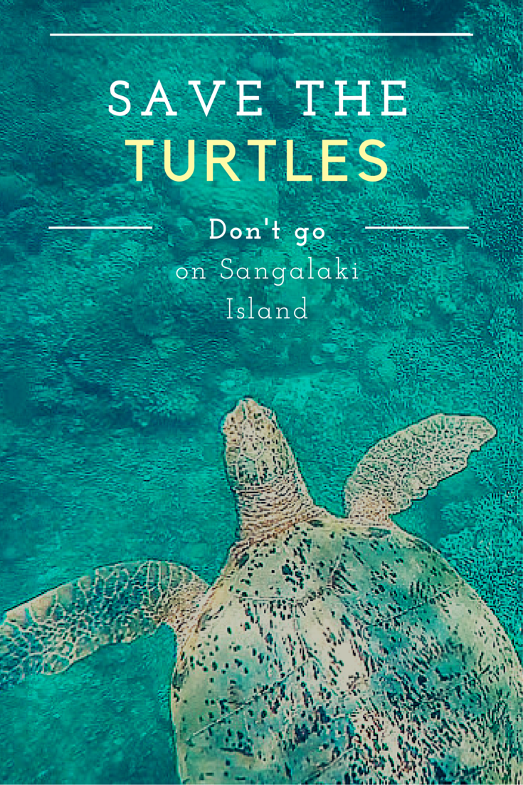 Don't go on Sangalaki island, save the turtles
