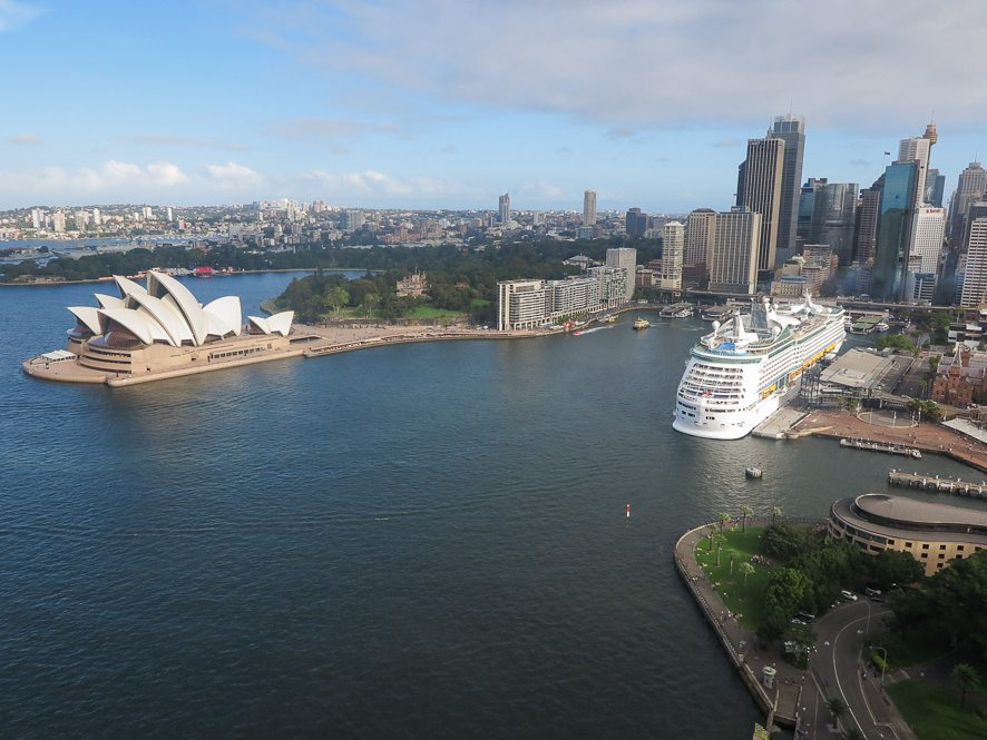 View from the top of the Sydney Harbour Bridge