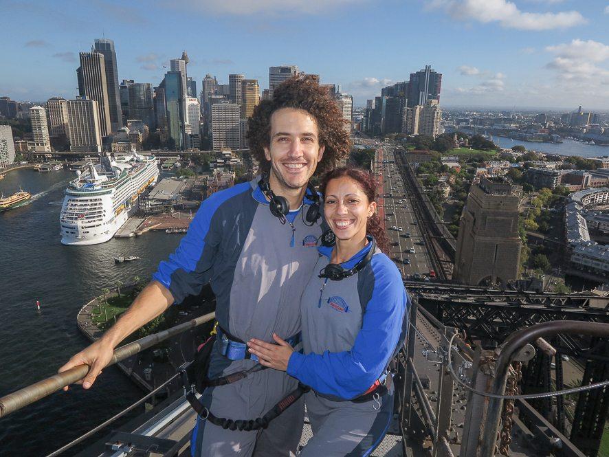 Vue sur la city depuis le sommet du Sydney Harbour Bridge