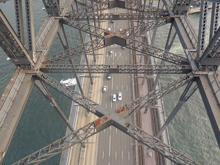On traverse le pont de Sydney pour aller sur le flanc ouest