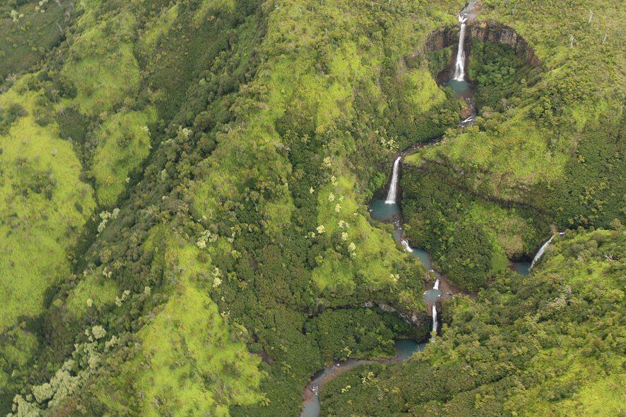 Kauai Manawaiopuna waterfall in Jurassic Park