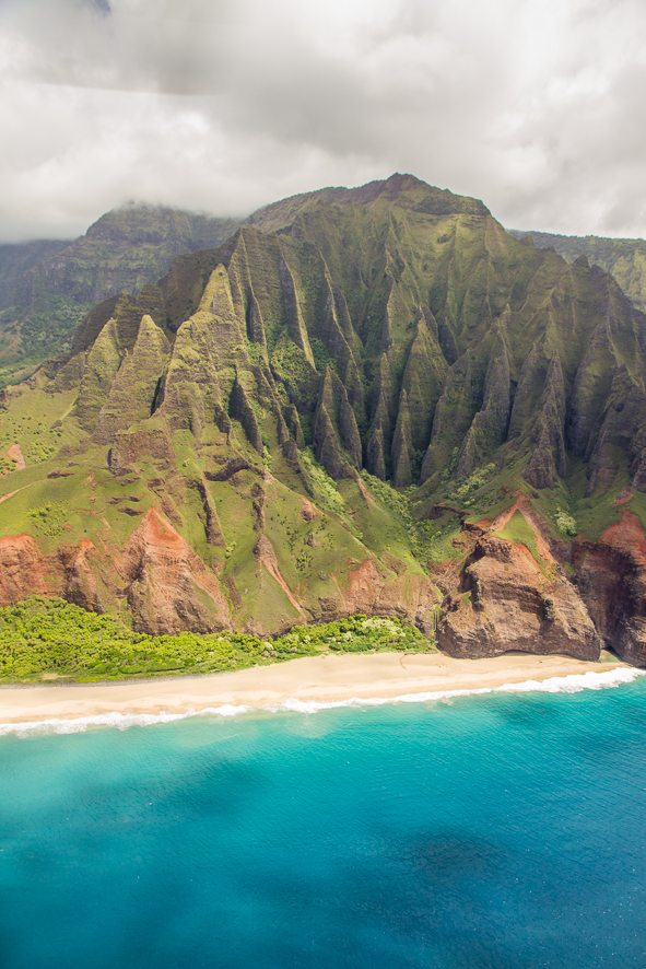 Kauai Napali Coast from above - aerial photography tips