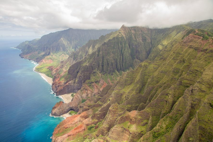 The beautiful Napali Coast Kauai - Helicopter tour