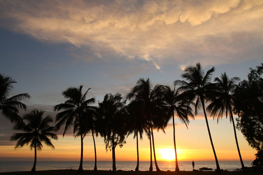 The most beautiful sunrise of Queensland, in Port Douglas