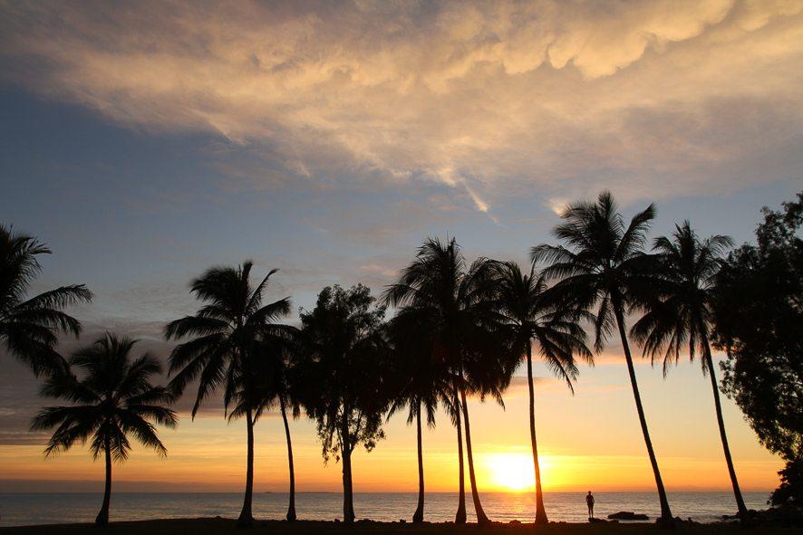 The most beautiful sunrise of Queensland, in Port Douglas