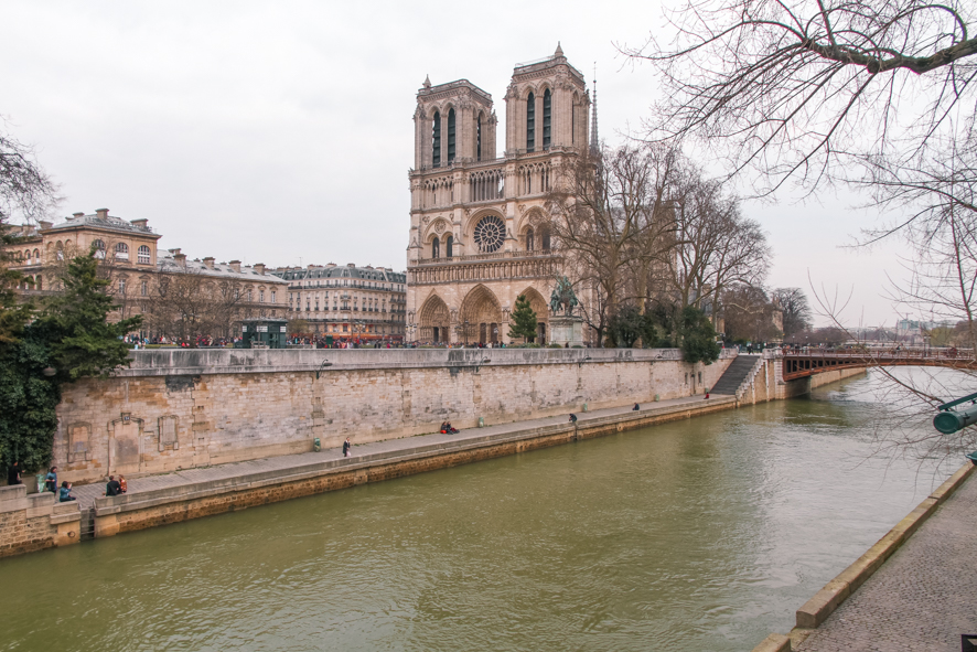 Notre Dame and the Seine in Paris