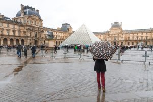 The pyramid of the Louvre in Paris